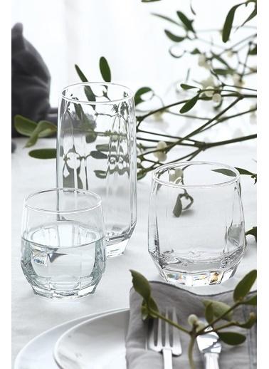 Lav Bardak Seti - Su Takımı Su Bardak - Meşrubat Bardağı 18Prç. Renkli